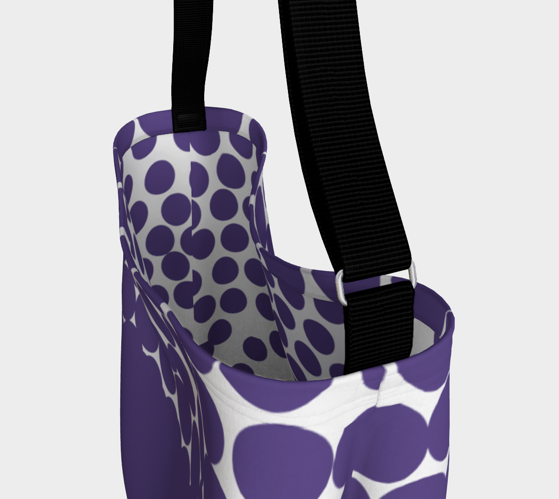 Ultraviolet Day Tote Bag Day Tote - Polka Dotted All The Things Boutique