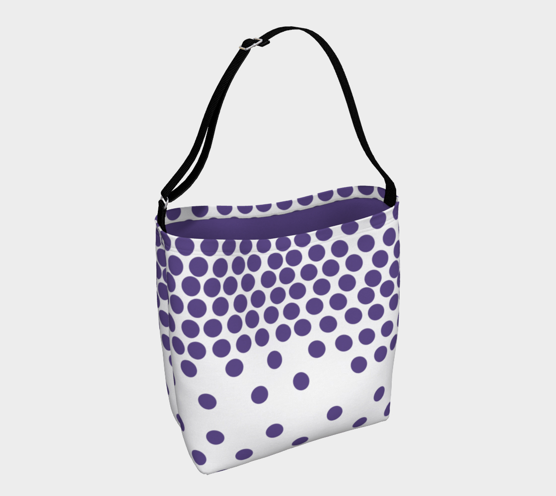 Ultraviolet polka dot day totebag Day Tote - Polka Dotted All The Things Boutique
