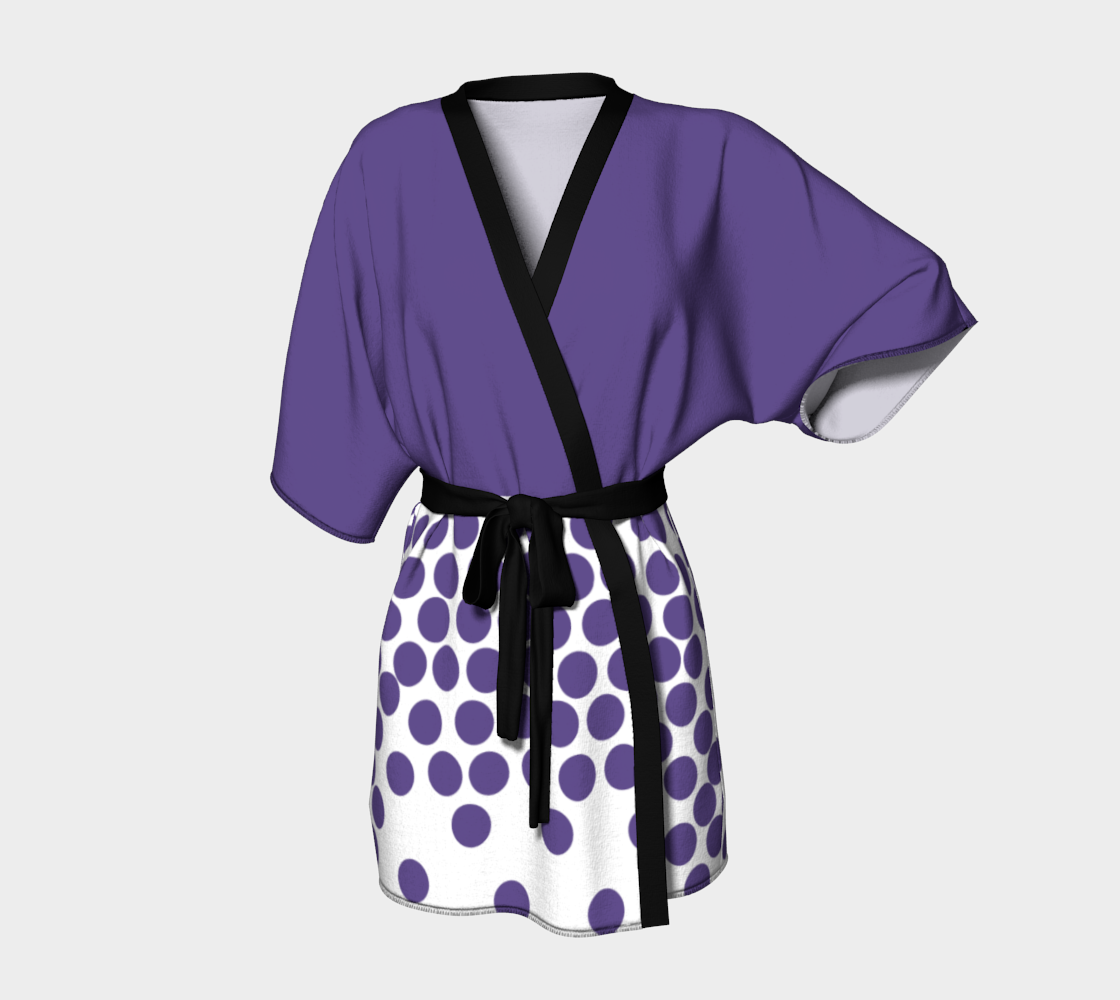 Robe de kimono Peignoir à pois UltraViolet - Angel Effect Shop