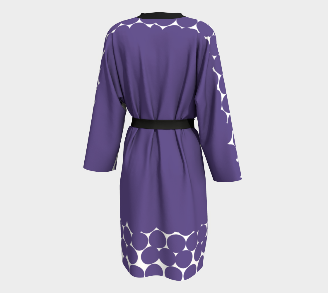 UltraViolet Polka Dot Weekend Robe Peignoir - Polka Dotted All The Things Boutique