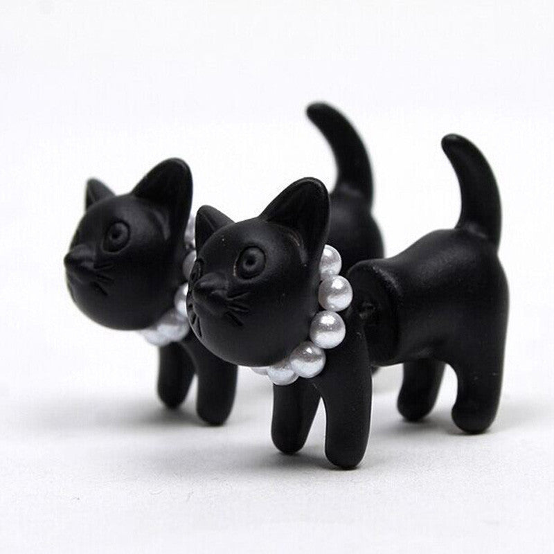 Perle Kitty Chat Boucles d'oreilles - Angel Effect Shop
