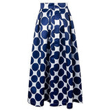 Jupe Longue Femme À Pois - Bleu Royal / Xxl - Womens Clothes