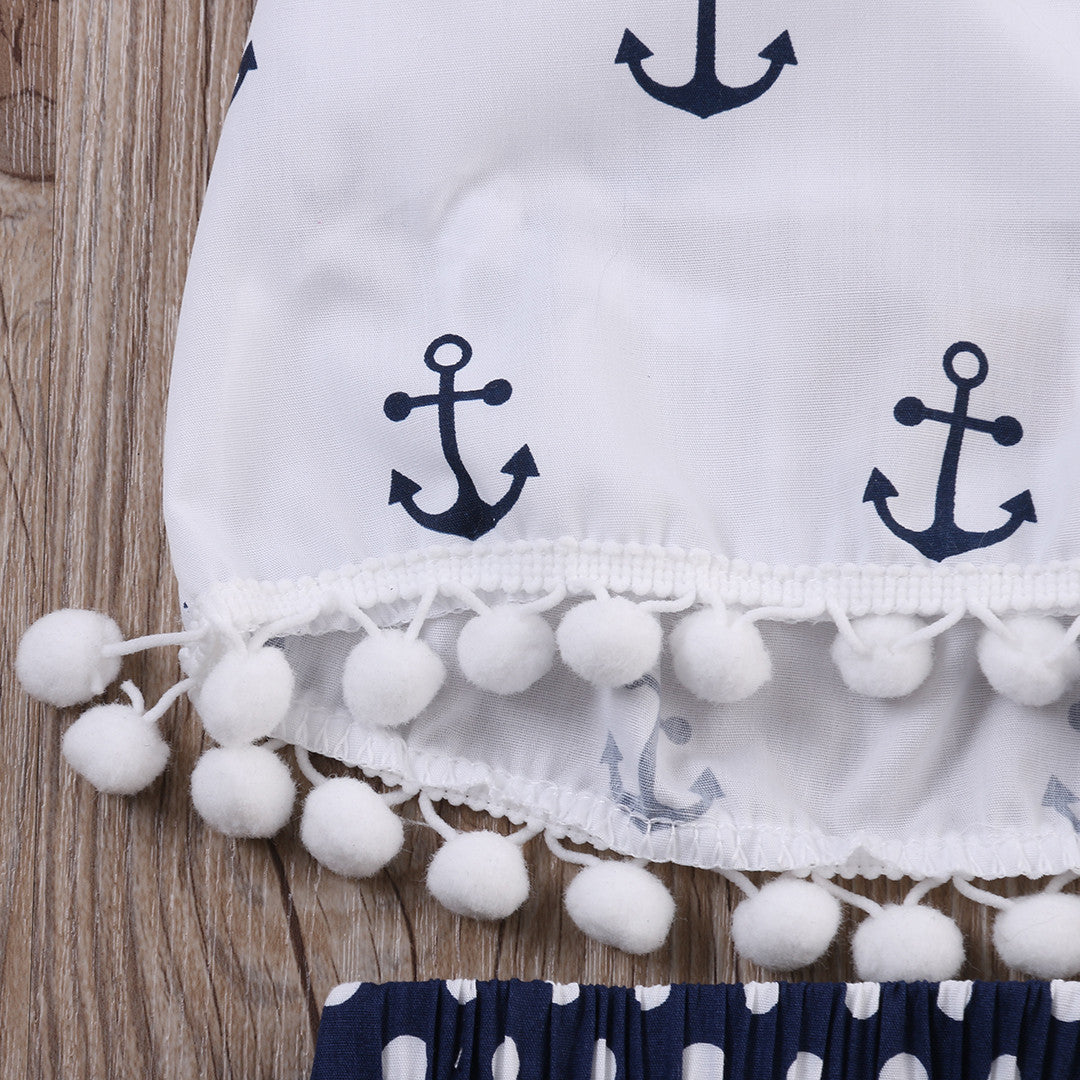 Nautical summer baby suit baby - Polka Dotted All The Things Boutique