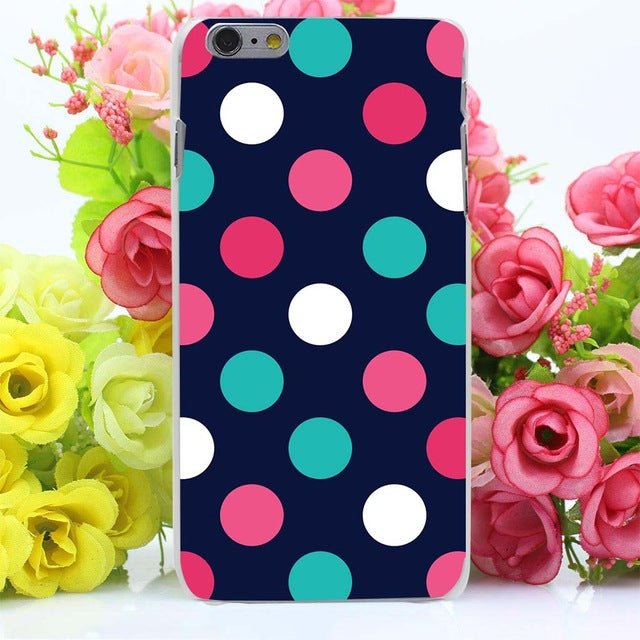Cute Polka Dot Hard Transparent Case Cover for iPhone 7 7 Plus 6 6S Plus 5 5S SE 5C 4 4S Case - Polka Dotted All The Things Boutique