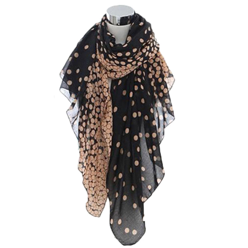 Long Polka Dot Wraps Shawl Style Scarves Scarves - Polka Dotted All The Things Boutique