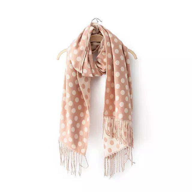 Polka Dot Pattern Winter Cashmere Scarves  - Polka Dotted All The Things Boutique