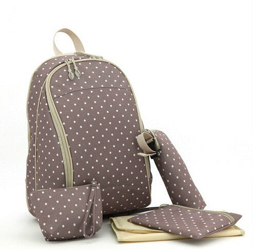 Baby backpack with Polka Dots diaper bag Purse - Polka Dotted All The Things Boutique