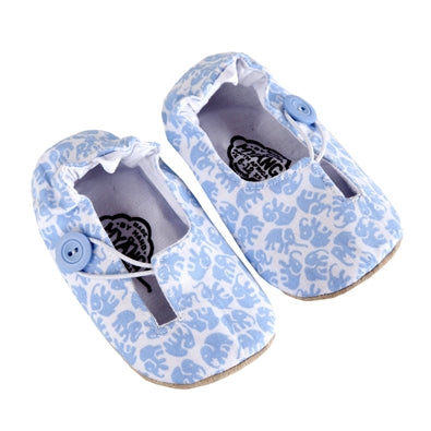 Myang Keyhole Shoes with Blue Elephants