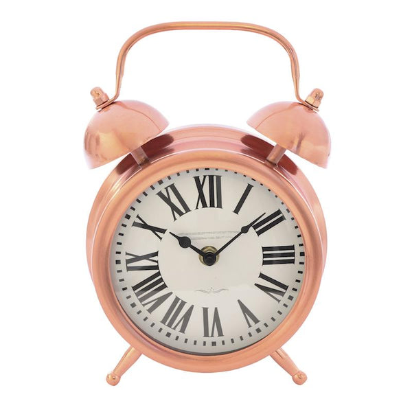 Copper Finish Alarm Clock 23cm