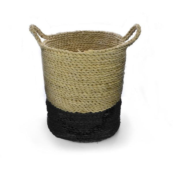 Dipped Handwoven Straw Basket 35cm