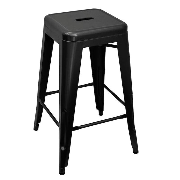 Metal Black Bar Stool 66cm
