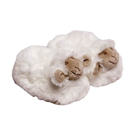 Chubby Sheep Slippers in White