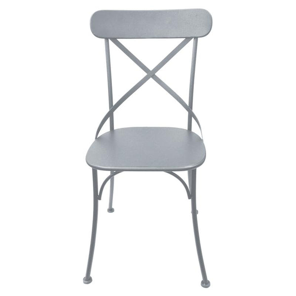 Metal Grey Crossback Chair