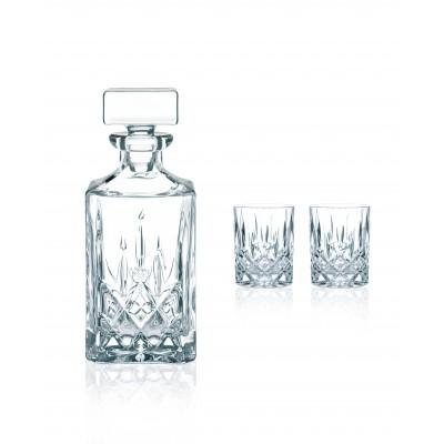 Nachtmann Noblesse Decanter and Whiskey Tumbler 3 Piece Gift Box