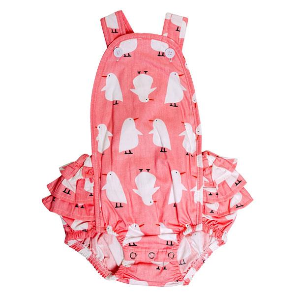 Playsuit - Penguins on Pink