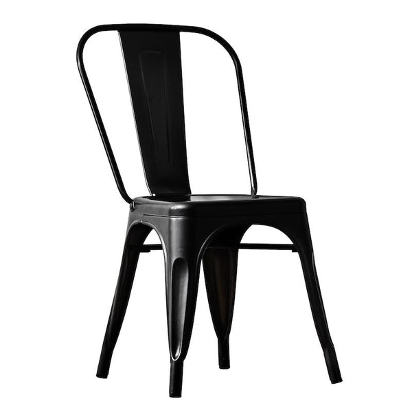 Bar Stool Black Metal 66cm