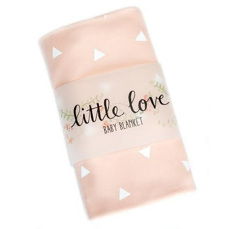 Pink and White Triangle Stretch Cotton Swaddle Blanket