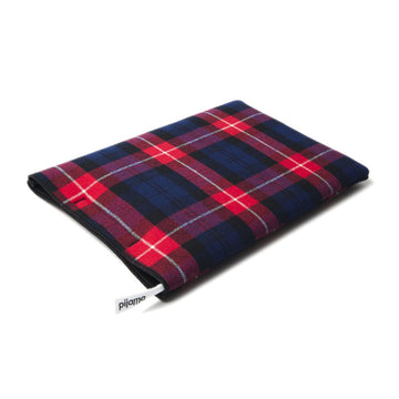 13 inch Macbook Sleeve tartan red - ONE HOUSE