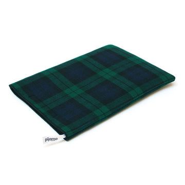13 inch Macbook Sleeve tartan blue green - ONE HOUSE