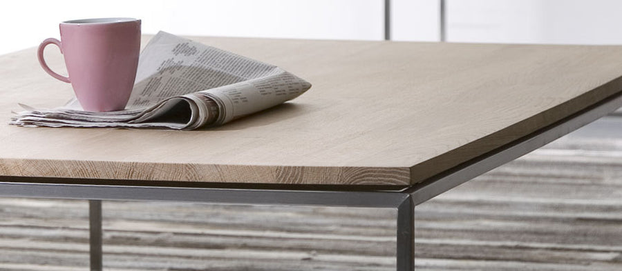 Thin oak coffee table - ONE HOUSE