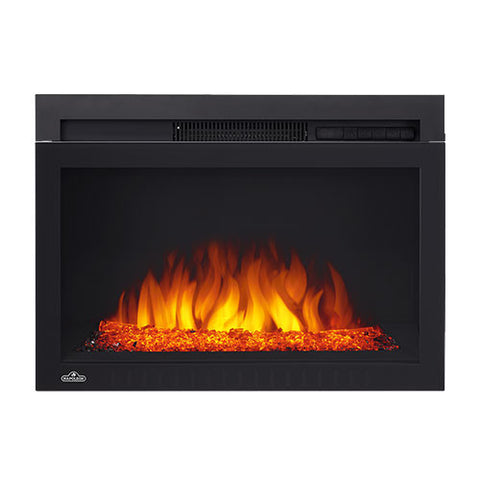 "Napoleon 24"" Cinema Built In Electric Fireplace with Glass - NEFB24HG"