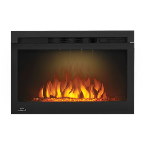 "Napoleon Cinema 27"" Built In Electric Fireplace with Glass - NEFB27HG"
