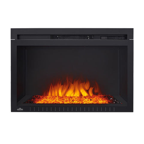 "Napoleon Cinema 29"" Built In Electric Fireplace with Glass - NEFB29HG"