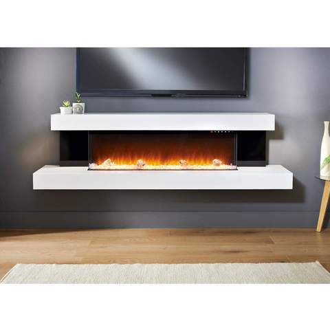 Evolution Fires Alpha Electric Fireplace 72-In Wall-mount