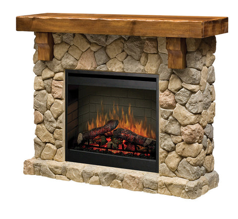Dimplex Fieldstone Electric Fireplace Mantel Package in Rustic - GDS26L5-904ST