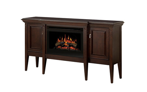 Dimplex Upton Electric Fireplace W/ Logs Media Console - GDS25-1253E