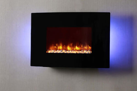 "Dynasty 36"" Curved Wall Mount Electric Fireplace - EF67-CP"