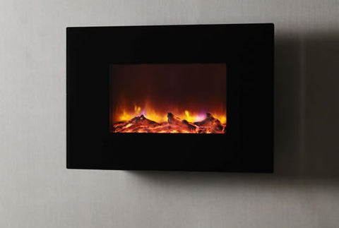 "Dynasty 36"" Wall Mount Electric Fireplace W/ Logs - EF67-L"