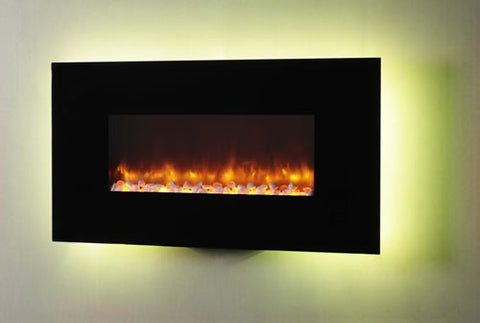 "Dynasty 50"" Wall Mount Electric Fireplace - EF68-P"