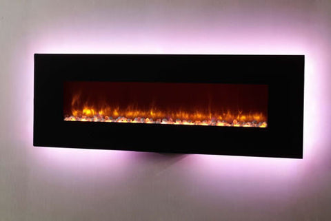 "Dynasty 70"" Wall Mount Electric Fireplace - EF70-P"