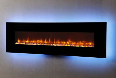 "Dynasty 78"" Wall Mount Electric Fireplace - EF71-P"