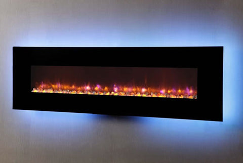 "Dynasty 94"" Wall Mount Electric Fireplace - EF72-P"