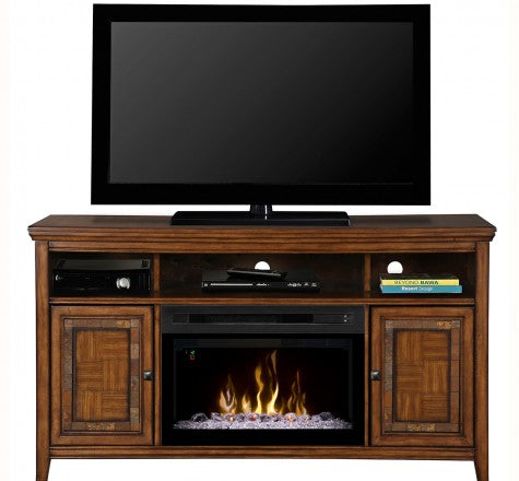 Dimplex Lynbrook Electric Fireplace Media Console in Lynbrook Brown - GDS25GD-1410LB
