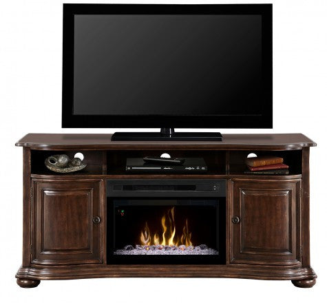 Dimplex Henderson Electric Fireplace Media Console in Distressed Cherry GDS25LD-1414HC