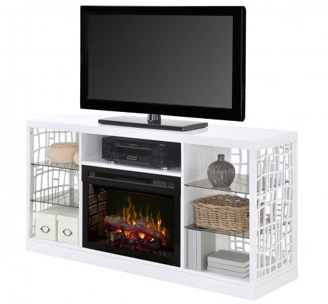 Dimplex Charlotte Electric Fireplace Media Console in White GDS25GD-1579W