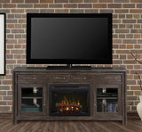 Dimplex Woolbrook Distressed Nutmeg Electric Fireplace Media Console w/ Logs - GDS25LD-1415WBN