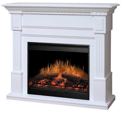 Dimplex Essex Electric Fireplace Mantel Package in White - GDS30L3-1086W