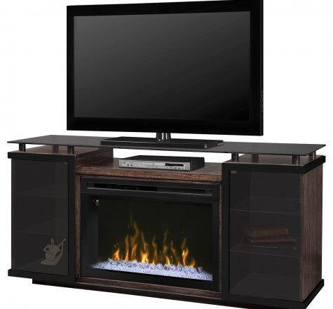 Aiden Electric Fireplace Media Console w/ Acrylic Ice in Peppercorn - GDS33G4-1582PC