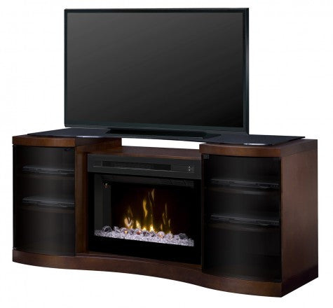 Acton Walnut Multi-Fire XD Electric Fireplace Media Console w/ Acrylic Ice - GDS33HG-1246WAL