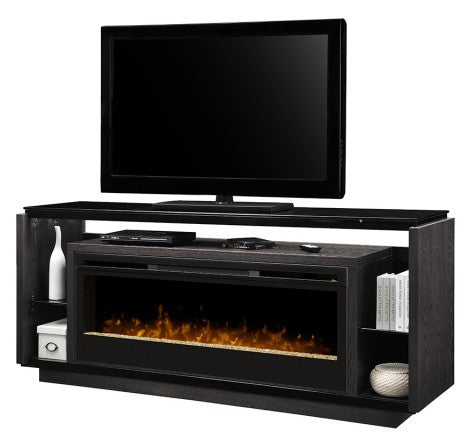 Dimplex David Electric Fireplace Media Console in Smoke
