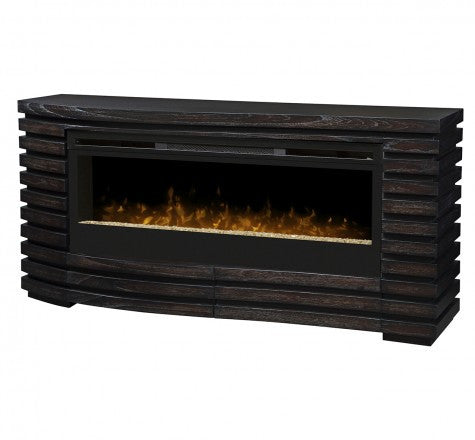 Dimplex Elliot Electric Fireplace Mantel Package in Hawthorne Brown