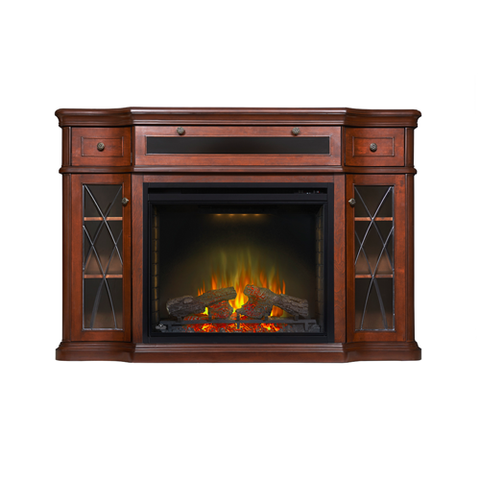 Napoleon Colbert Electric Fireplace Media Console in Antique Mahogany - NEFP33-0614AM
