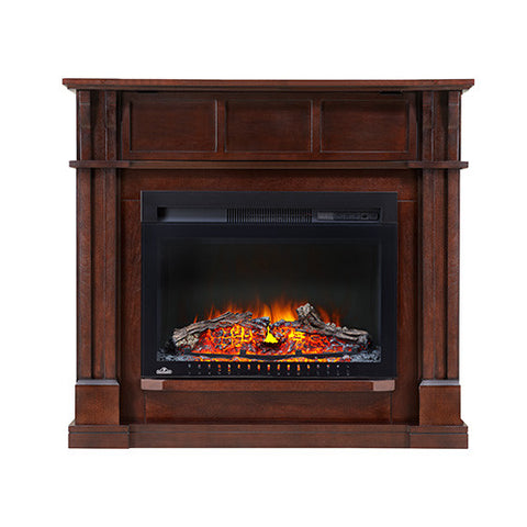Napoleon Bailey Corner/Wall Electric Fireplace Mantel Package in Espresso - NEFCP24-0116E