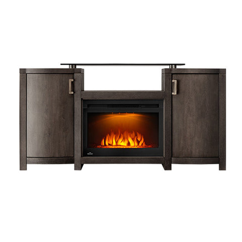 Napoleon Whitney Electric Fireplace Media Console in Grey Wash Finish - NEFP24-0516GRW