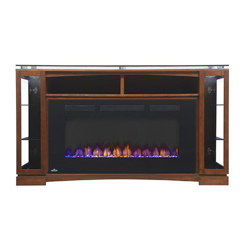 Napoleon Shelton Electric Fireplace Media Console in Burnished Walnut- NEFP42-1715BW