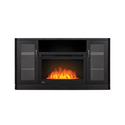 Napoleon Crawford Electric Fireplace Media Console in Black - NEFP27-1116B